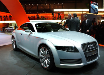 The new Audi Nuvolari Quattro is on display as a first world presentation at the Geneva car show in ..
