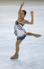 Japan's Mao Asada practices her free skating program during a training session before the Bompard Trophy event at Bercy in Paris