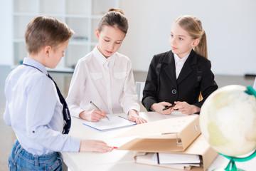 Children working in office