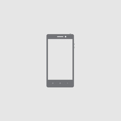 Smartphone icon. Flat style smartphone vector illustration