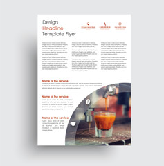 Universal design flyer  for advertising business, sports, food, beverages.