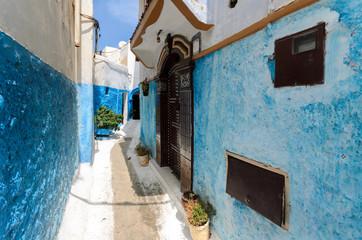 Moroccan door in a street of Rabat