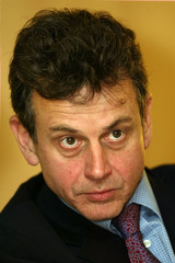 French telecom equipment maker Alcatel Chief Financial officer Jean-Pascal Beaufret of France answer..