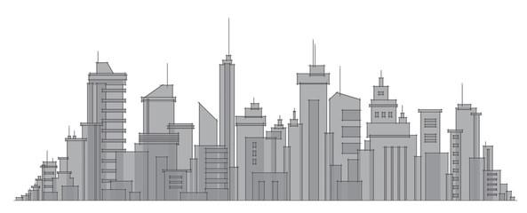 Vector city buildings.