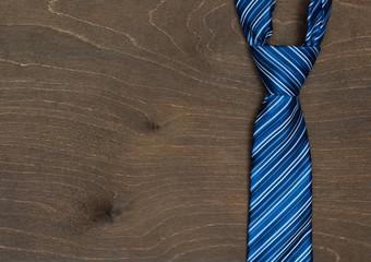Modern, new blue tie