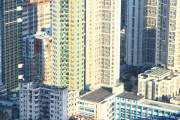 Bird's Eye View of Tsuen Wan New Town in Hong Kong