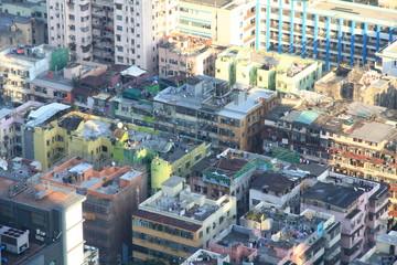 Bird's Eye View of Tsuen Wan New Town in Hong Kong