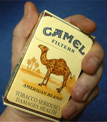 - PHOTO TAKEN MAR99 - A packet of Camel cigarettes is seen in London in this March 1999 photo. The E..