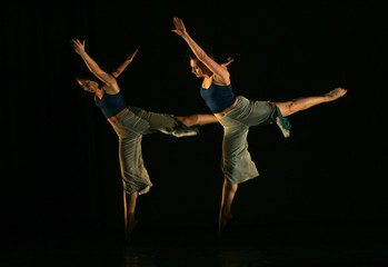 Dancers from YAA Samar Dance Theatre perform at Al Hussein Cultural Centre during the Amman International Dance Festival