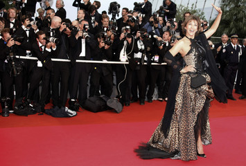 "Actress Corinne Touzet arrives for the screening of the film ""The Exchange"" in Cannes"