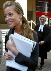 POP STAR ACTOR HOLLY VALANCE LEAVES COURT FOR RECESS IN SYDNEY.