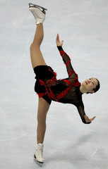Shizuka Arakawa of Japan performs her ladies free skating programme during Bompard Trophy event in Paris
