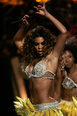 Singer Beyonce Knowles performs during the Fashion Rocks show at Radio City Music Hall in New York