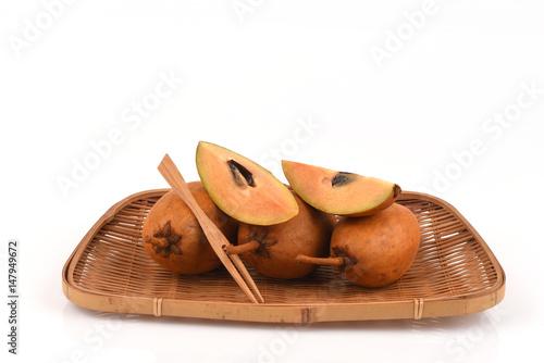 sapodilla chico sapote dilly fruits fruits of thailand