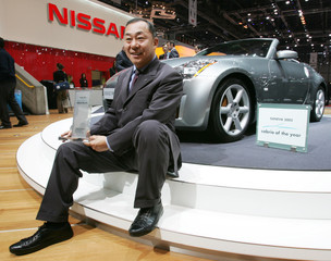 Nissan 350Z Roadster wins the Cabrio of the year award 2005 at the Geneva Motor Show.