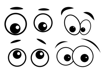cartoon eyes vector symbol icon design.
