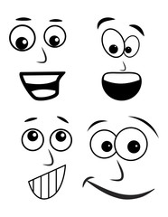 cartoon face vector symbol icon design.