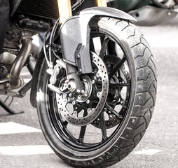 Brilliant details of motobike
