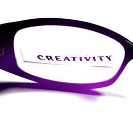 Creativity through glasses.