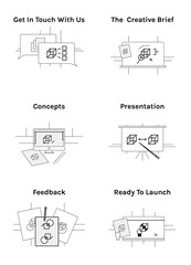 Design Process Icon Set