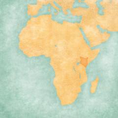 Map of Africa - Kenya