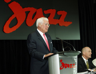 Richard McCoy and Joseph D. Randell at the Air Canada Jazz AGM in Halifax