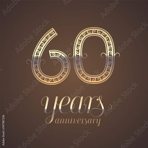 Quot60 years anniversary vector icon symbolquot stock image and for 60 wedding anniversary symbol