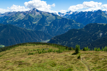 Wall Mural - Summer Alps view from Zillertal High Alpine Road, Austria, Tirol