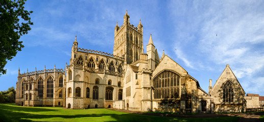 Panorama of Gloucester Cathedral