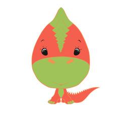 small cute dinosaur boy