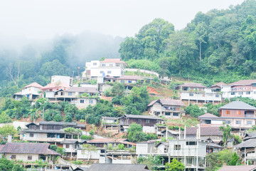 background village of hill tribe