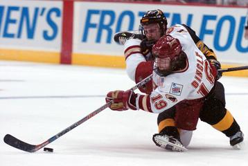 Colorado College vs University of Denver 2005 Men's Frozen Four hockey action in Ohio.