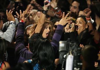 Singer Paulina Rubio wins at the MTV Los Premios 09 awards in Los Angeles