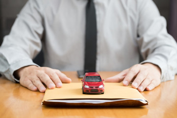 Submit a document for car loan