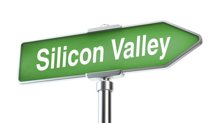 Silicon Valley, - road sign
