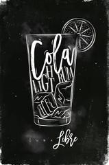 Cuba libre cocktail chalk