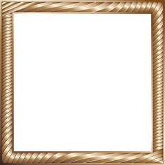 Beautiful decorative frame of bronze stripes.