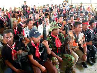 MEMBERS OF SEPARATIST FREE ACEH MOVEMENT (GAM) REBELS IN ACEHPPROVINCE.