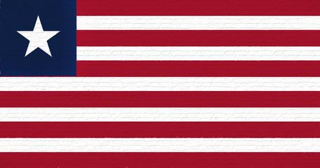Flag of Liberia Wall.