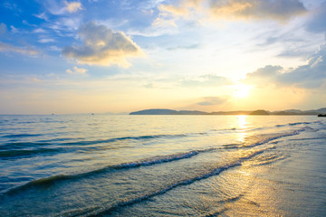 Sunset and beach at Krabi, Thailand