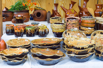 Set clay utensils