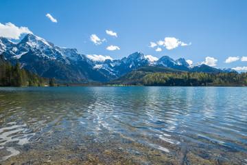 Beautiful mountain lake in the Alps in Austria