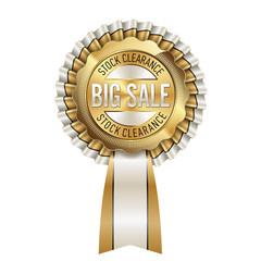 Stock clearance, Big Sale. Sale Badge.