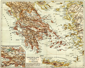 Greece (from Meyers Lexikon, 1895, 7/944/945)