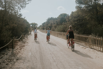 the girls cycling
