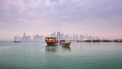 Fotobehang Hong-Kong Doha morning view, Qatar