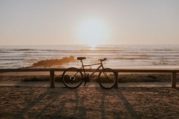bicycle in front of the sea
