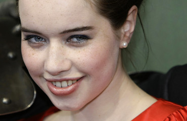 British actress Popplewell arrives for the German movie premiere of 'The Chronicles of Narnia - Prince Caspian of Narnia' in Kaltenberg