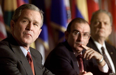 BUSH ATTENDS MEETING AT THE OAS.
