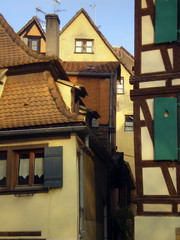 Timbered building from the middle age in the city center of Strasbourg (La petite France)